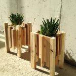 באדניות מעץ ממוחזר
