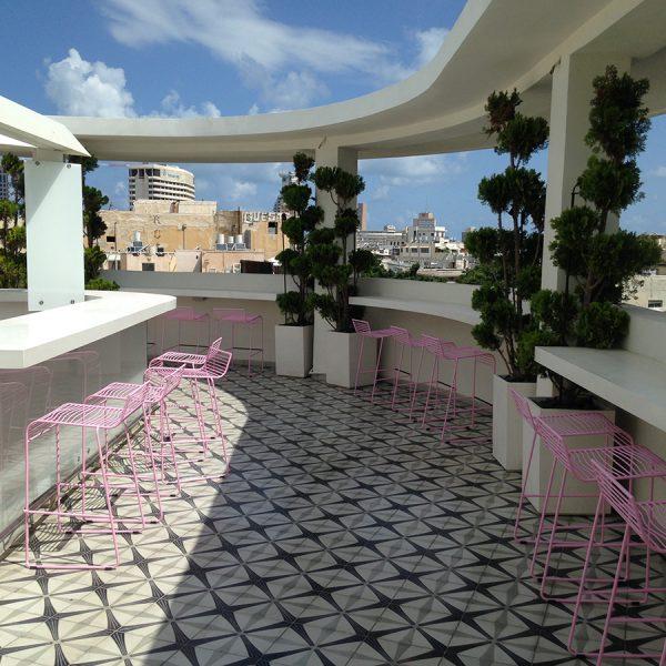 אריחי רצפה מצוירים - מלון פוליהאוס