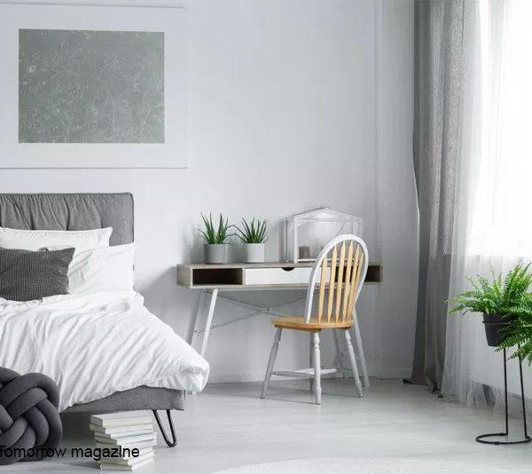עיצוב חדר שינה אפור