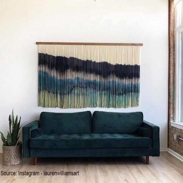 עיצוב קירות הבית - עבודת חוטים