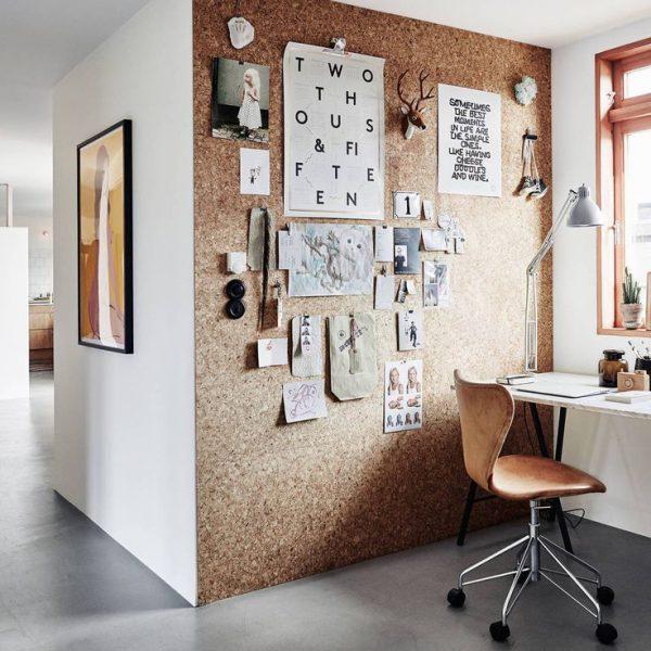 עיצוב חדר עבודה עם לוח שעם
