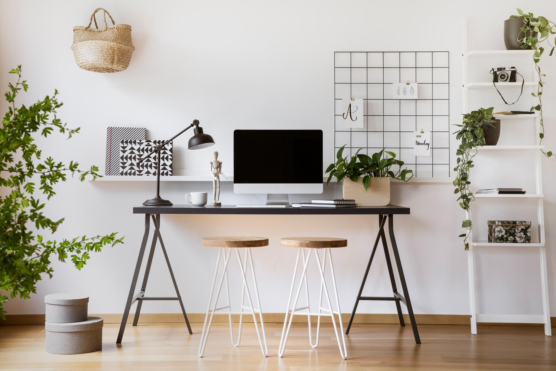 עובדים מהבית – עיצוב חדר עבודה